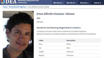 Ubica DEA al 'Alfredillo' Guzmán como uno de los 10 más buscados