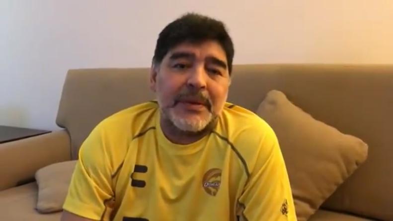 Maradona pide apoyar a damnificados… y que 'Diosrespete un poco más todo'