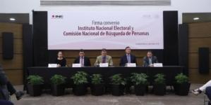 Logran INE y CNB convenio para buscar e identificar personas desaparecidas