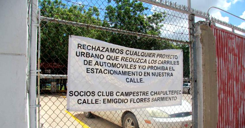 Vecinos detienen construcción de ciclovía en la colonia Chapultepec de Culiacán