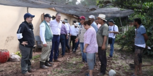 Secretarios federales recorren zonas afectadas en Sinaloa y anuncian apoyos a damnificados