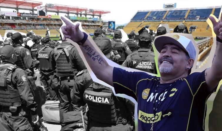 Operativo de seguridad vigilará el primer juego de Dorados con Maradona como DT en Culiacán