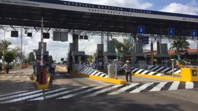Darán pase libre en casetas de cobro de Culiacán hacia el sur del estado