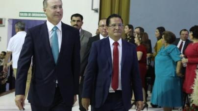 Asiste Quirino a toma de protesta de Carlo Mario Ortiz como alcalde de Salvador Alvarado