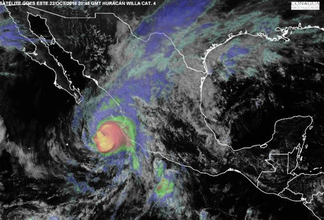 Sinaloa en alerta naranja ante proximidad de Willa | Ya en categoría 3, ronda las Islas Marías