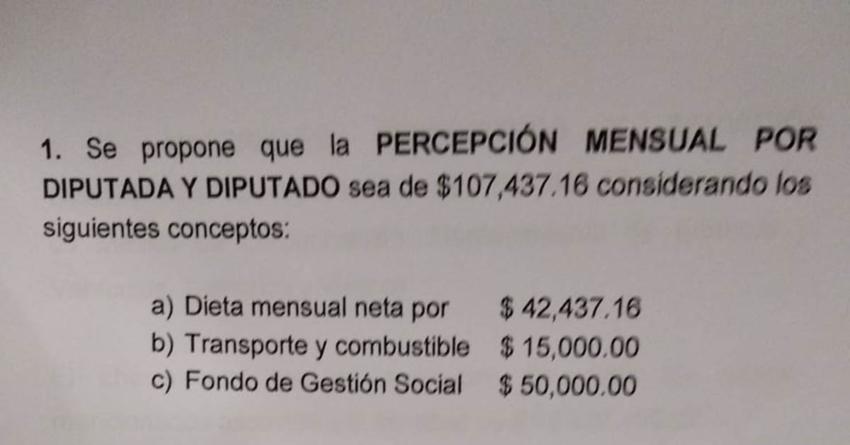Congreso austero | Reducen en Sinaloa sueldo de diputados en 37%… de 169 a 107 mil pesos