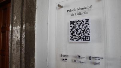 Develan Código QR en Ayuntamiento de Culiacán   Mostrará datos históricos del edificio