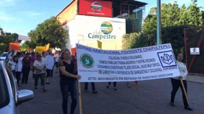 Vecinos de la Chapule marchan contra Distrito Paseo Mundial