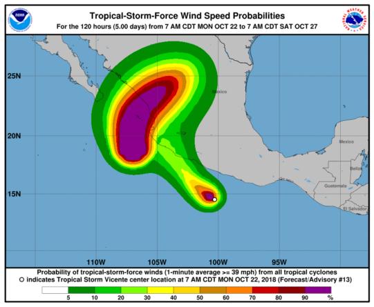 Willa sube a categoría 5 e inician evacuaciones en municipios del sur