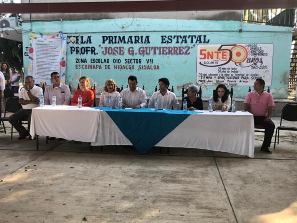 Reanudan clases el 82 por ciento de escuelas de Escuinapa y Rosario