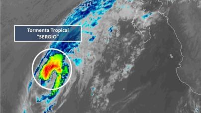 Tormenta tropical Sergio mantiene trayectoria; hay peligro mínimo para Sinaloa