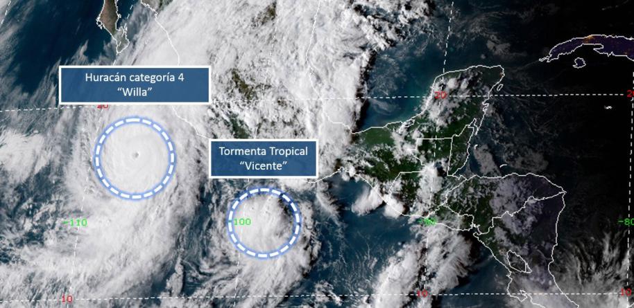 SEPyC suspende clases en sur de Sinaloa por huracán Willa; ya es categoría 4