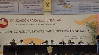 Foro de Educación en Sinaloa: ausencia de diálogo