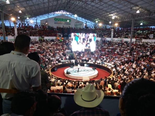 Informe de Gobierno en el Palenque   'Me da gusto estar en un escenario como uno es': Quirino