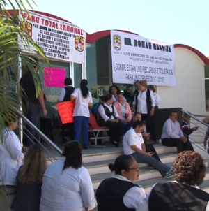 En paro sector salud de Sinaloa | En pie hasta que se les pague a trabajadores