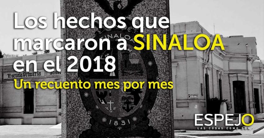 Los hechos que marcaron a Sinaloa en el 2018   Un recuento mes por mes