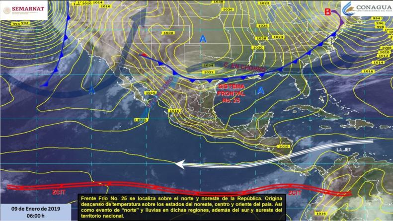 SMN pronostica lluvias aisladas para la tarde de este miércoles en Sinaloa