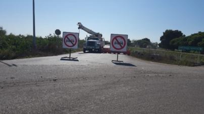 Por obras en el Aeropuerto cerrarán por un mes vialidad que conduce a Aguaruto