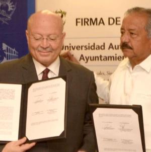 Firman convenio | Ayuntamiento considerará a la UAS como proveedor de servicios