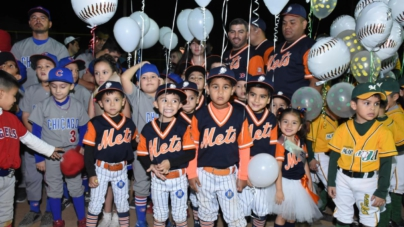 Inauguran la XXXII edición de la liga infantil de beisbol Pequeño Colhuacan