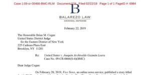 Por negligencia del jurado, abogados de El Chapo solicitan un nuevo juicio
