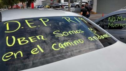 DEP Hugo | Choferes de Uber protestan tras asesinato de compañero