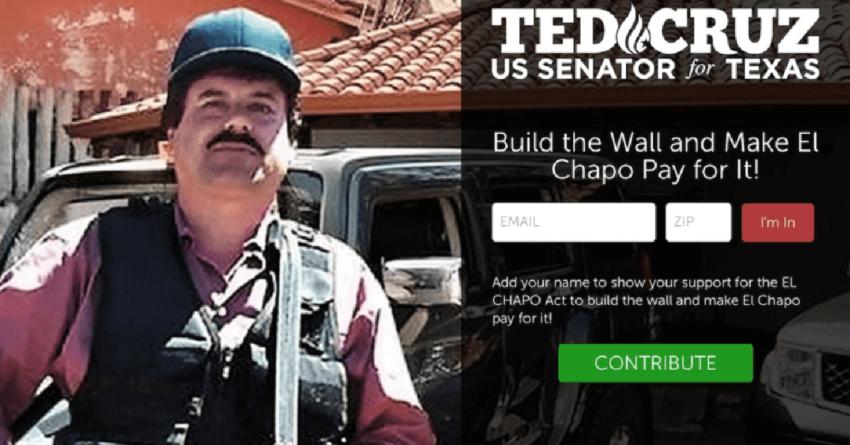 El Chapo debe pagar por el muro fronterizo de Trump: Ted Cruz