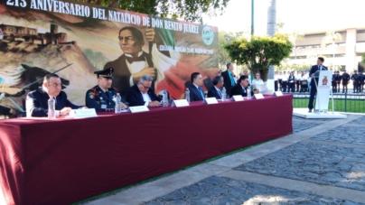 213 aniversario | Masones recuerdan a Benito Juárez