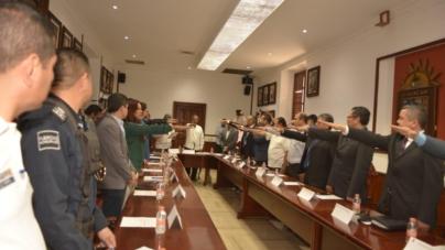 Toman protesta a nuevo Consejo  Municipal de Seguridad Pública