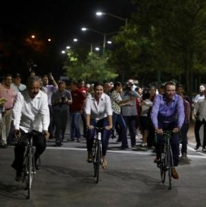 """Entregan alcalde y gobernador rehabilitación del velódromo del """"Parque Culiacán 87"""""""