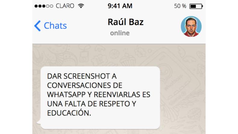 Adiós a los screeshots | Whatsapp evitaría capturas de pantalla dentro de su aplicación