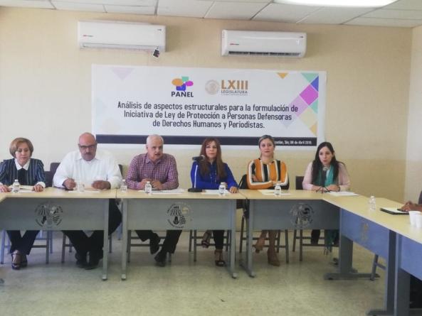 Abren Panel de Análisis para Iniciativa de Protección a Defensores de Derechos Humanos y Periodistas