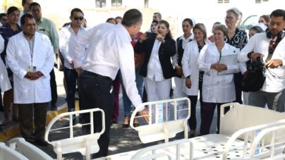Gobernador Entrega 40 Camas y Anuncia Compra de Tomógrafo para Hospital General de Culiacán