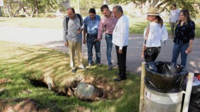 Alcalde recorre el parque Las Riberas para detectar fallas en sus condiciones