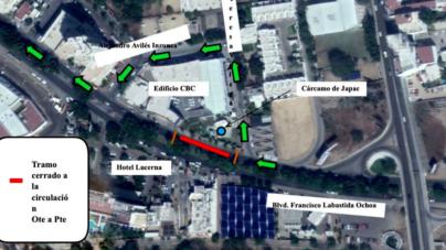 JAPAC | Cerrarán por 8 Días Tramo del Malecón Nuevo Frente a Hotel Lucerna