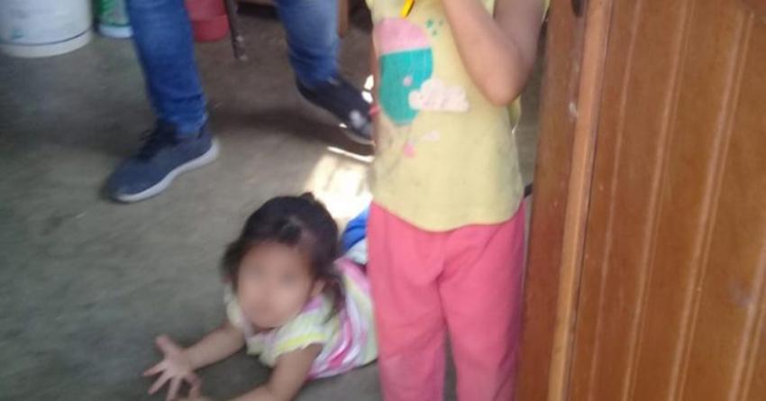 Madre soltera encerraba a sus hijas de 2 y 3 años para ir a trabajar en el campo