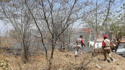 Ahogan incendio forestal en inmediaciones de colonia Montesierra en Culiacán