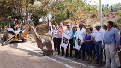 Inicia Alcalde trabajos para la construcción del sistema de agua potable en El Salado