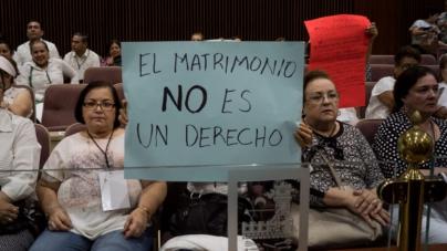 Manifestación | Iglesia está convencida de que matrimonio igualitario no pasará en Sinaloa