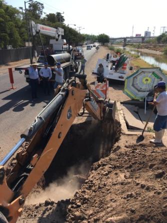 Sin agua 40 colonias del sector centro sur por falla en la línea de conducción de la Japac
