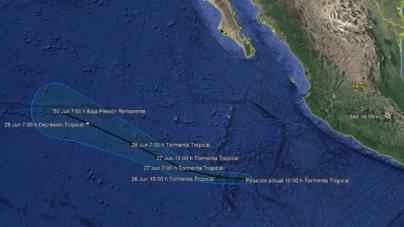 Se forma Alvin, la primera tormenta tropical de la temporada de huracanes 2019