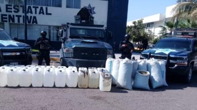 SEMAR y PEP aseguran otro narcolaboratorio en Culiacán; suman 24