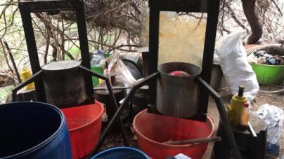 Ejército Mexicano y Policía del Estado localizan dos laboratorios clandestinos en Sinaloa