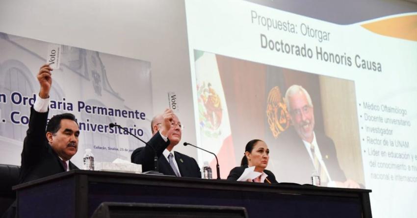 """""""Solo la comunidad universitaria puede modificar la Ley Orgánica de la UAS"""", advierte rector"""