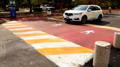 Instalarán paso peatonal frente a Parque Acuático este fin de semana
