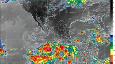 Se forma la Depresión Tropical 10-E en el Océano Pacífico: CONAGUA