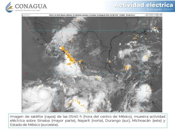 Ivo ocasiona lluvias intensas en Sinaloa, Chihuahua, Durango y Nayarit