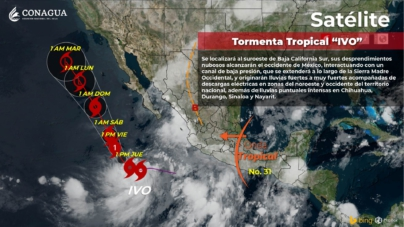 'Ivo' seguirá causando lluvias en el estado; esta será su trayectoria en las próximas horas