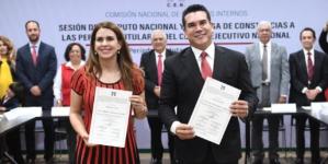 """Recibe constancia Alejandro Moreno; trabajará """"por un PRI que vuelva a ganar elecciones"""""""