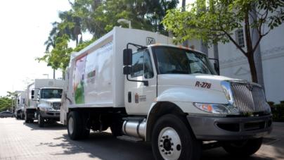 Se suman 3 nuevos camiones recolectores a trabajos de limpieza en Culiacán